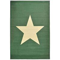 Star zöld gyerekszőnyeg, 140 x 200 cm - Hanse Home