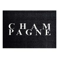 StateMat Champagne fekete lábtörlő, 50 x 75 cm - Mint Rugs