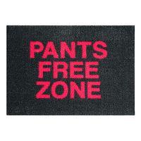 StateMat Pants Free Zone fekete lábtörlő, 50 x 75 cm - Mint Rugs