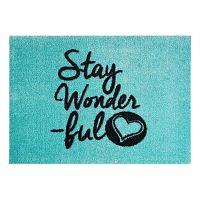StateMat Stay Wonderful kék lábtörlő, 50 x 75 cm - Mint Rugs