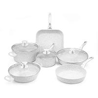Stonewhite 6 darabos edénykészlet fedőkkel és ezüstszínű fülekkel - Bisetti