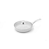 Stonewhite serpenyő fedővel és ezüstszínű nyéllel, Ø 24 cm - Bisetti