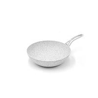 Stonewhite WOK serpenyő ezüstszínű nyéllel, Ø 28 cm - Bisetti