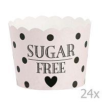 Sugar Free papír sütőforma, 24 db - Miss Étoile