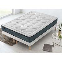 Tendresse fehér matrac zöld szegéllyel, 200 x 200 cm - Bobochic Paris