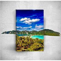 Tropical Island 3D fali kép, 40 x 60 cm - Mosticx