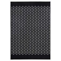 Twist fekete szőnyeg 70 x 140 cm - Zala Living