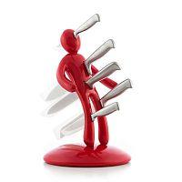 Voodoo 5 db-os rozsdamentes késkészlet piros figura alakú tartóval - InnovaGoods