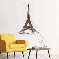Wall Decal Eiffel Tower Drawing falmatrica, 55 x 40 cm - Ambiance