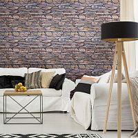 Wall Decal Materials Stone Facing of Torrerdam falmatrica, 40 x 40 cm - Ambiance