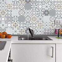 Wall Decal Tiles Artistic Shade of Grey 60 db-os falmatrica szett, 20 x 20 cm - Ambiance