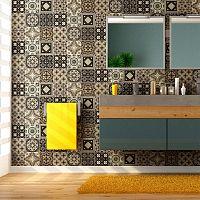 Wall Decal Tiles Azulejos Pompei 9 db-os falmatrica szett, 20 x 20 cm - Ambiance