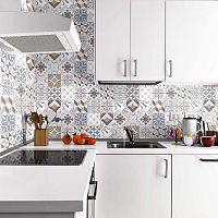 Wall Decals Traditional Beige Tiles 24 db-os falmatrica szett, 20 x 20 cm - Ambiance