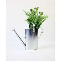 Watering Can Wild Flowers ezüstszínű cink váza, 10 x 30 cm - Surdic