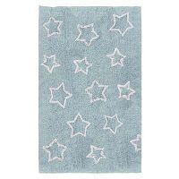 White Stars kék kézzel készített gyerekszőnyeg, 120x160cm - Tanuki