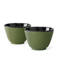 Xilin 2 részes zöld öntöttvas teáscsésze szett - Bredemeijer