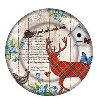Xmas Plate Duro üvegtányér karácsonyi motívummal, ⌀ 32 cm - PPD