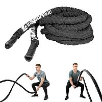 Fitness kötél inSPORTline WaveRope 3,8cm x 9m