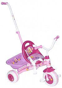Gyerek tricikli Barbie toló rúddal