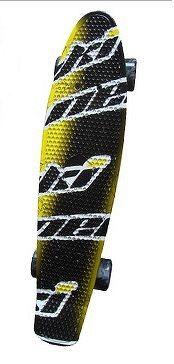 Spartan műanyag gördeszka Hattrick sárga/fekete