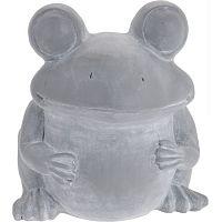 Béka cement virágtartó, 30,5 cm