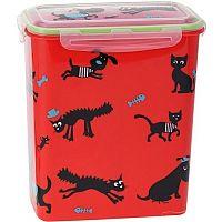 Cane állateledel-tartó doboz, piros