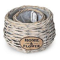 Home a Flower virágkaspó bézs, 2 db-os készlet