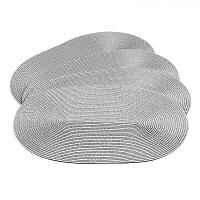 Jahu Deco ovális alátétek szürke, 30 x 45 cm, 4 db-os szett