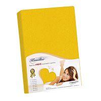 Kamilla frottír lepedő, sárga, 160 x 200 cm, 160 x 200 cm