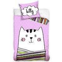 Kitty gyermek pamut ágynemű, 140 x 200 cm, 70 x 80 cm