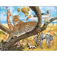 Larsen Puzzle Afrikai állatok, 48 darab
