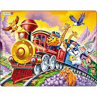 Larsen Puzzle Cirkuszi vonat, 30 darab