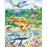Larsen Puzzle Dinoszauruszok, 35 darab