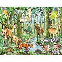 Larsen Puzzle Európai erdő, 40 darab