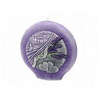 Lavender Kiss Dekoratív gömbölyű gyertya,