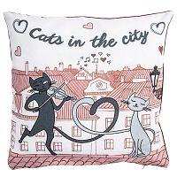 Macskák a városban kispárnahuzat, 40 x 40 cm, 40 x 40 cm