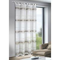 Mandy függöny akasztópántokkal, ezüst, 135 x 245 cm