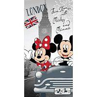 Mickey and Minnie in London törölköző, 70 x 140 cm