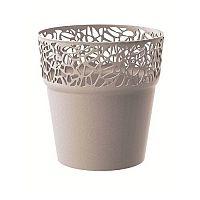 Naturo virágtartó, kávészínű, átmérő: 14,5 cm, 14,5 cm átmérőjű