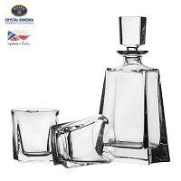 Orion Whisky készlet, tartalma: 0,7 l-es palack és 2 db üvegpohár