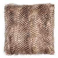 Párna tigrismintás világos barna, 45 x 45 cm