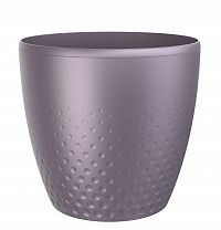 Perla műanyag kaspó, 16 cm, lila, 16 cm átmérőjű