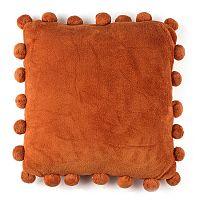 Pompon párna, narancssárga, 45 x 45 cm
