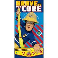 Sam, a tűzoltó Brave to the Core törölköző, 70 x 140 cm