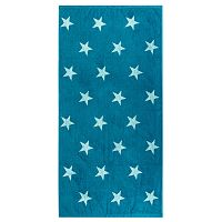 Stars törölköző, türkiz, 70 x 140 cm