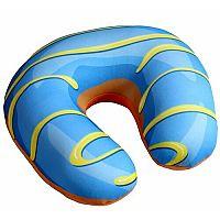 Utazópárna Donut kék, 30 x 30 cm