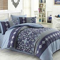 Valeria pamut ágynemű, kék/szürke, 140 x 200 cm, 70 x 90 cm, 140 x 200 cm, 70 x 90 cm