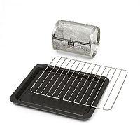 Klarstein Blaise Accessories, 3 részes tartozék készlet: grillrács, tepsi és grillkosár