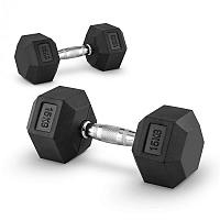 Capital Sports Hexbell 15, 15kg, két kézi súlyzó (dumbbell)