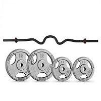 Capital Sports IP3H, súlytárcsa készlet, 2 x 10 kg, 2 x 5 kg, súlyemelő rúd 10 kg, összesen 40 kg